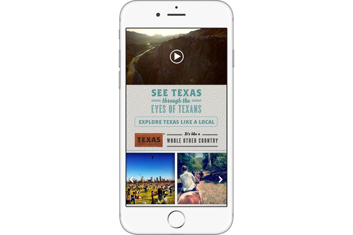 Texas Tourism Travel Marketing Case Study Mobile Website Design