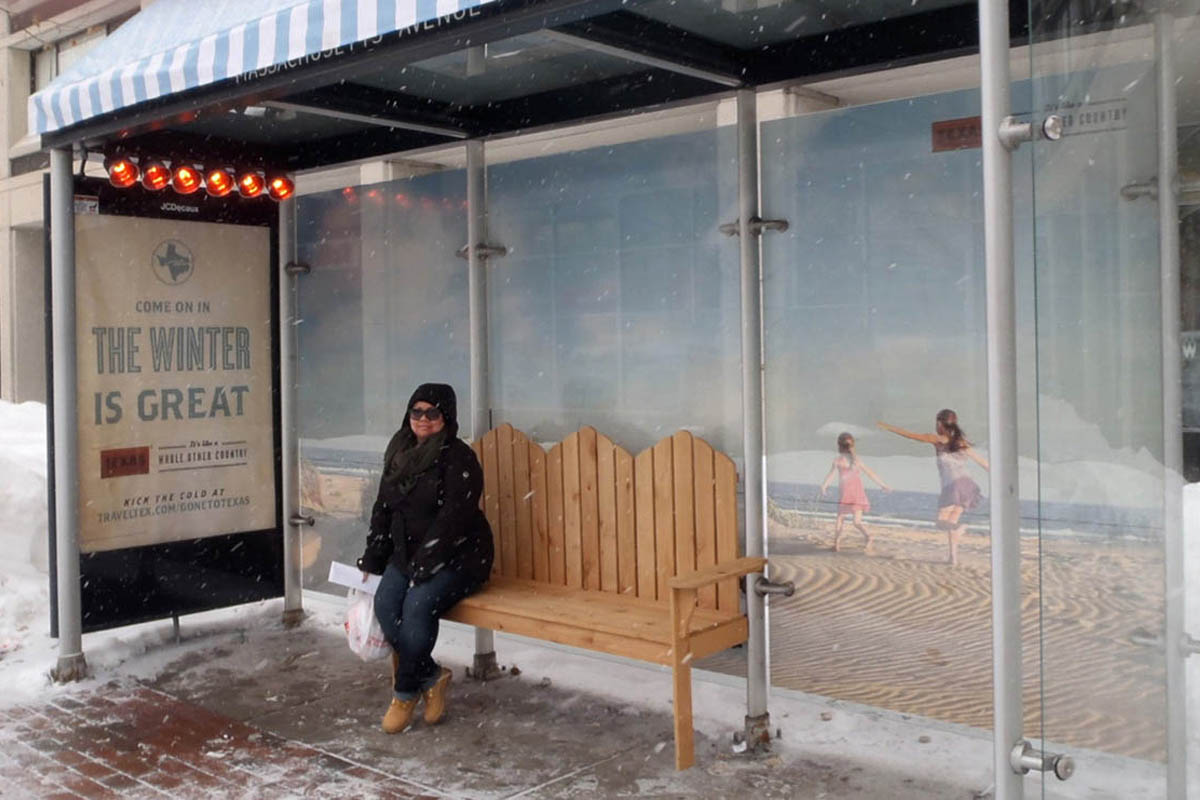 Texas Tourism Travel Marketing Case Study Out Of Home Bus Stop Texas Warming Station