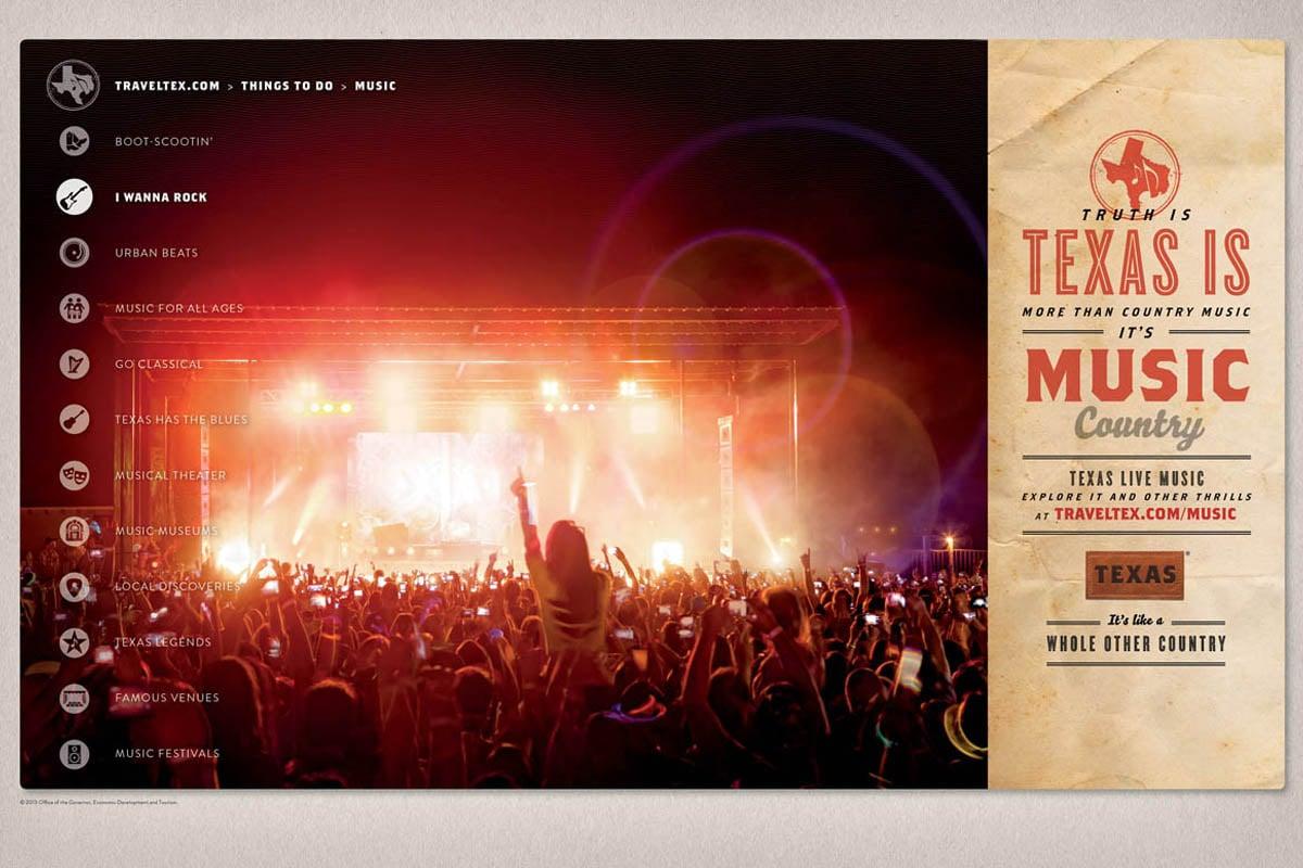 Texas Tourism Travel Marketing Case Study Texas Music