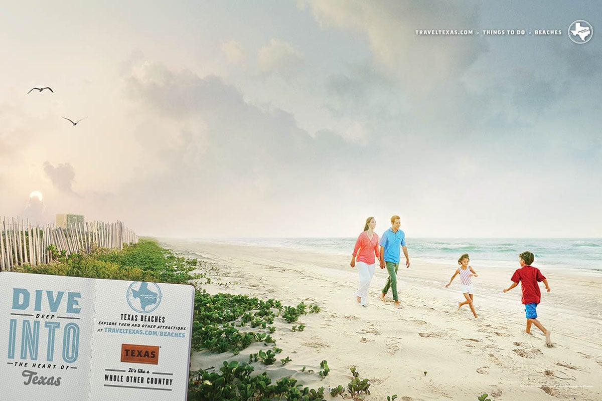 Texas Tourism Travel Marketing Case Study Texas Beaches Print Ad