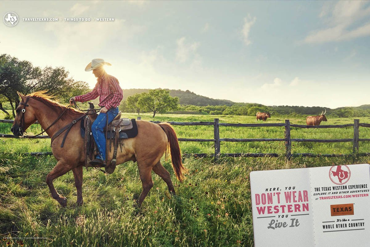 Texas Tourism Travel Marketing Case Study Texas Western Ranch Print Ad